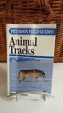 Peterson Field Guide ANIMAL TRACKS by Olaus J. Murie Second Edition illustrated