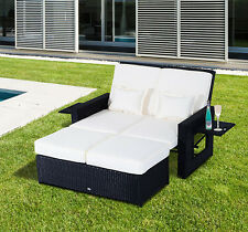 Patio Rattan Wicker Chaise Lounge Furniture Set Sofa Ottoman Outdoor Daybed Pool