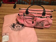Juicy Couture Velour Diaper Bag Pink / Brown Couture Baby Changing Pad  EUC