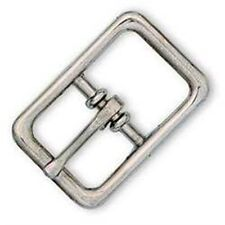 """Bridle Center Bar Buckle 5/8"""" (1.6 cm) Nickel Plated  Tandy Leather Item 1510-00"""