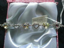 Genuine swarovski elements coffret cadeau bracelet-light gold crystal - £ 35!