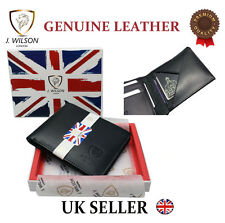 Designer Mens Leather Wallet Real Genuine High Quality Card Cash Id Gift Box