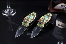 Windproof Refill Butane Gas Camouflage Cigarette Lighter with Folding Knife