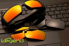 Fire/Gold & Dark Black POLARIZED Replacement Legend Lenses For Oakley GASCAN