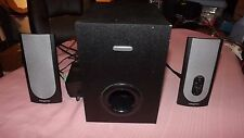 CREATIVE 2.1 COMPUTER SPEAKERS MODEL #SBS380 WITH POWERED SUBWOOFER - WORKS