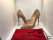 Christian Louboutin Nude Patent Sokate Hot Chick New 41 Pigalle
