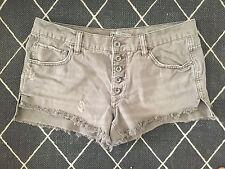 SO RARE $68 Free People Urban Runaway Slouch Denim Jean Cutoffs Shorts Grey 27
