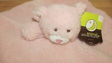 NWT Animal Adventure Baby security blanket teddy bear Plush & satin pink
