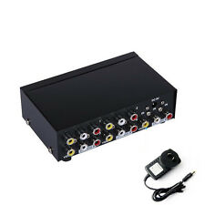 4-way Composite RCA AV splitter distributor 1 in 4 out for STB,DVD w/power