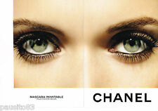 PUBLICITE ADVERTISING 065  2009  CHANEL  maquillage ( 2 p papier glacé) mascara