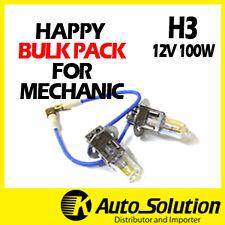 H3Globes Bulbs Bulk Pack 20PCS 12V 100W Halogen Headlight Yellow Warm White