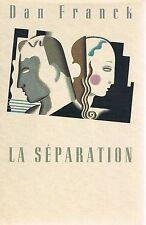 DAN FRANCK La Séparation +  PARIS POSTER GUIDE