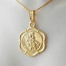 St Christopher Hallmarked 9k Yellow Gold Pendant Charm 375 Saint of Travelers