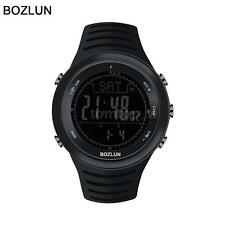 BOZLUN All Black Military Outdoor Sports Watch Altimeter Barometer Compass G0L3