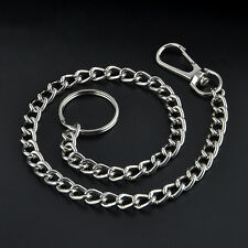 Extra Long Metal Keyring Keychain Chain Hipster Key Wallet Belt Ring Clip 38cm
