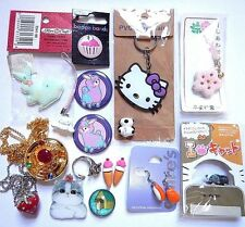 KAWAII JEWELRY & ACCESSORIES LOT cute japan hello kitty sushi cats mascot