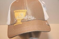 NEW MWT The President's Cup TPC Cap Hat IMPERIAL Mesh 2013 Beige White