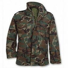 M-65 Field Jacket WOODLAND CAMO with liner -NEW - Size Small Long