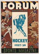 1937-38 Montreal Maroons-Bruins Program B's Top Maroons GEM!!
