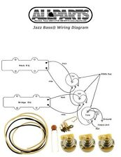 NEW Jazz Bass Pots Wire & Wiring Kit for Fender Jazz Bass Guitar Diagram