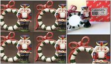 Fitz Floyd Vtg Nutcracker Sweet Retired Napkin Ring Toy Soldier Set 6 New 19/900