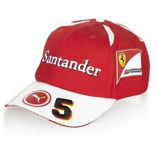 Scuderia Ferrari Red Sebastian Vettel Formula 1 Adjustable Baseball Hat #5