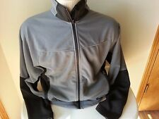 REI gray and black long sleeve full zip fleece with 2 zip pockets - mens medium