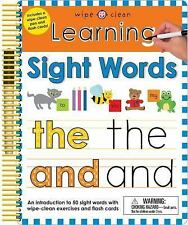 Wipe Clean: Learning Sight Words by Roger Priddy (2016, Spiral)