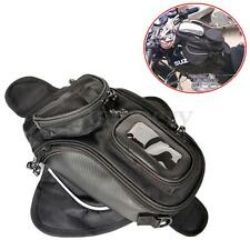 Motorcycle Magnetic Tank Bag - Motorbike Pannier Bag w/ GPS/Mobile Pocket Black