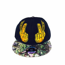 Middle Finger Flip Off Swag Bboy Hip Adjustable Unisex Baseball Hat Snapback Cap
