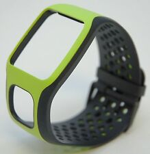 NEW TomTom Comfort Strap BLACK/GREEN Runner Multi-Sport GPS watch band cardio HR
