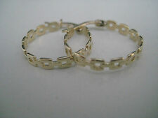 9ct yellow gold linked hoop earrings NEW IN HOT ARRIVAL