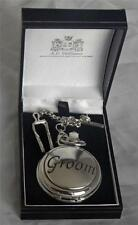 Gent's POCKET WATCH Quartz Full Hunter GROOM Wedding FREE ENGRAVING NEW