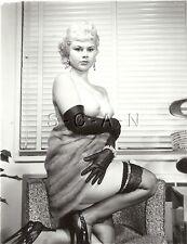 Original Vintage 1940s-60s Nude RP- Blond- Gloves- Stockings- Heels- Fur Coat