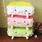 Plush Tofu Pillows Cute Throw Pillows Food Cushions Hand Warmer Plush Toys