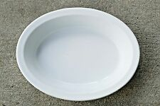 "John Maddock White English Ironstone Dense 10"" Oval Bakers Side Bowl 1855-1860's"