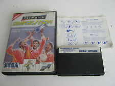 Champions Of Europe, Master System Game, Trusted Ebay Shop