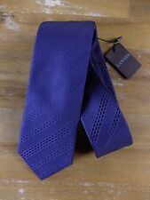 auth LANVIN Paris skinny blue silk tie - New with Tags