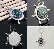 Outdoor Camping Hiking Mini Metal Precise Portable Compass Keychain Ring CH