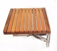 Good Teak Wood Folding Shower Seat Bench Wall Mounted Solid Shower Seat