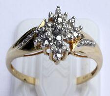 Diamant Ring 585 Gelbgold Weißgold