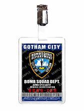 Batman Gotham City Bomb Sqaud Vehicle ID Badge Cosplay Prop Costume Christmas