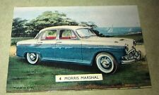 1960 MORRIS MARSHAL  - Sanitarium Weetbix New Zealand Swap Card - RARE