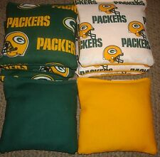 SET OF 8 GREEN BAY PACKERS CORNHOLE BAGS - QUALITY