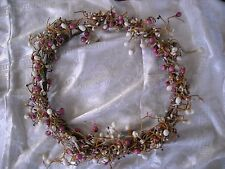 "14"" country pastel pip berry wreath chic decoration decor pink shabby"