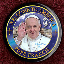 "2015 Pope Francis 3"" Papal Visit / Welcome to America Button (Pin 02)"