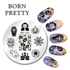 BORN PRETTY Nail Art Stamping Template DIY Halloween Pumpkin Image Plate BP122