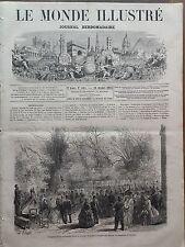 LE MONDE ILLUSTRE 1865 N 445 INAUGURATION DU MONUMENT ELEVE A ANTOINE WATTEAU