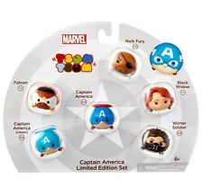 Marvel Tsum Tsum CAPTAIN AMERICA Limited Edition Set Includes Nick Fury 118