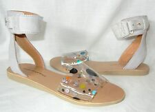 Minimarket Women's Seth Leather and Glitter Anklestrap Sandal Retail $265 size 8